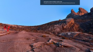 Sun Rays Over Donkey Ears Peak