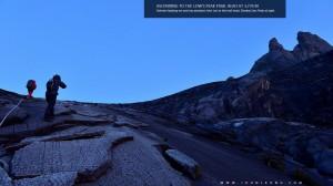 Via Ferrata Crew Ascending to Low's Peak Trail Head